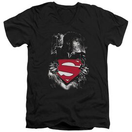 Superman Darkest Hour Short Sleeve Adult V Neck T-Shirt