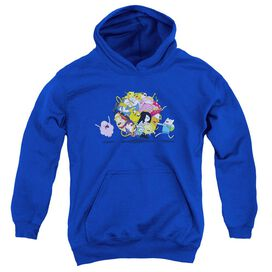 Adventure Time Glob Ball Youth Pull Over Hoodie Royal