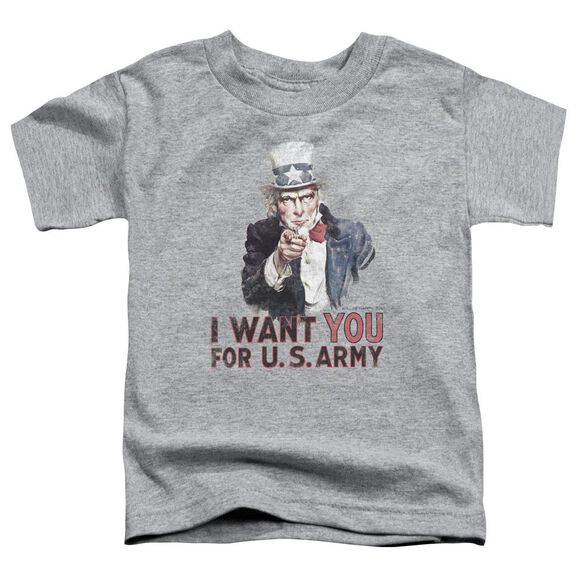 Army I Want You Short Sleeve Toddler Tee Athletic Heather T-Shirt