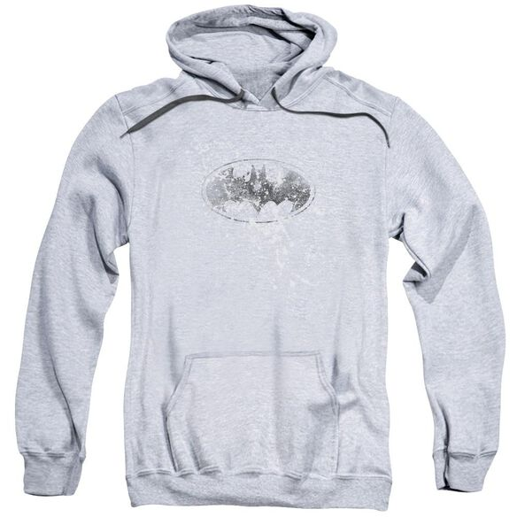 Batman Burned &Amp; Splattered Adult Pull Over Hoodie Athletic