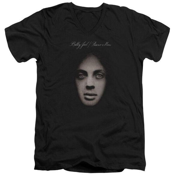 Billy Joel Piano Man Cover Short Sleeve Adult V Neck T-Shirt