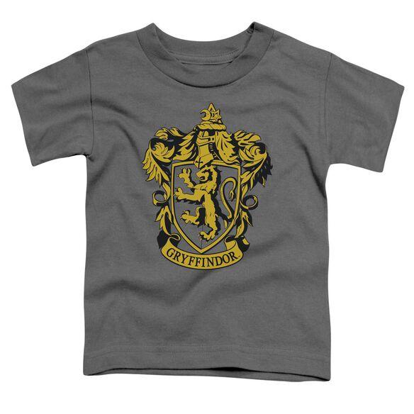 Harry Potter Gryffindor Crest Short Sleeve Toddler Tee Charcoal T-Shirt