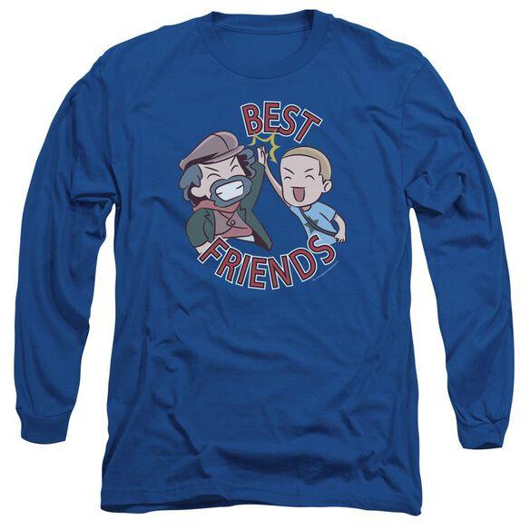 Valiantbest Friends Emoji Long Sleeve Adult Royal T-Shirt