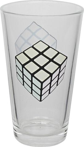 Rubiks Cube Cold Changing Pint Glass
