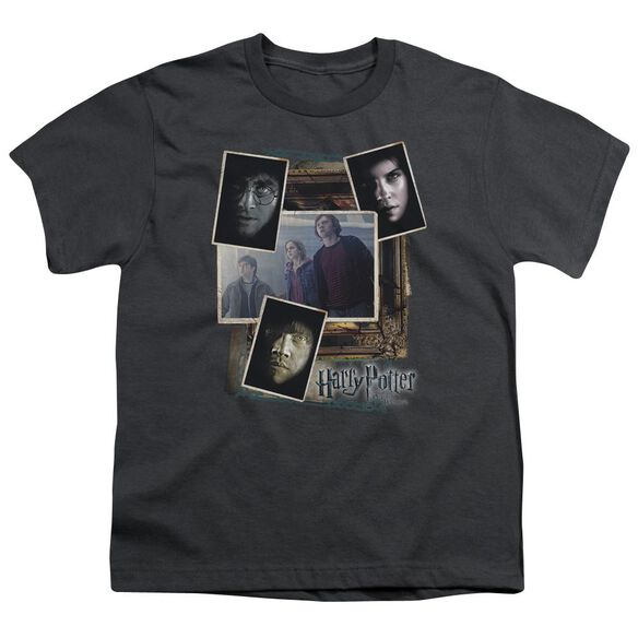 Harry Potter Trio Collage Short Sleeve Youth T-Shirt
