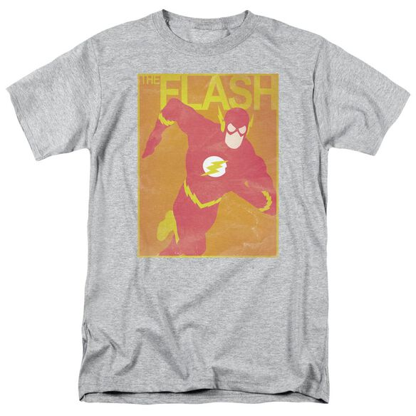 Jla Simple Flash Poster Short Sleeve Adult Athletic T-Shirt