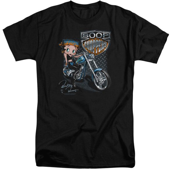 Betty Boop Choppers Short Sleeve Adult Tall T-Shirt