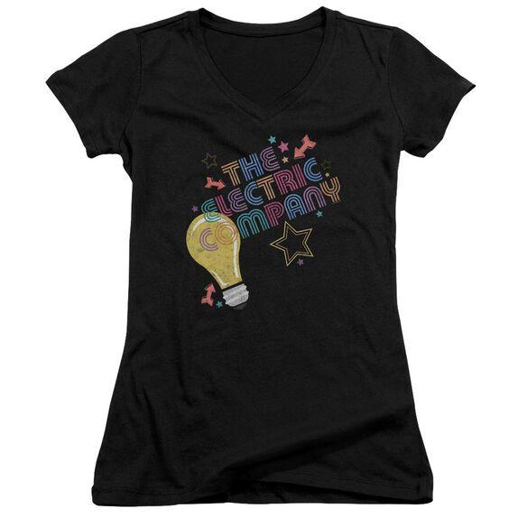 Electric Company Electric Light Junior V Neck T-Shirt