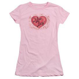 I Love Lucy Classic Logo Short Sleeve Junior Sheer T-Shirt