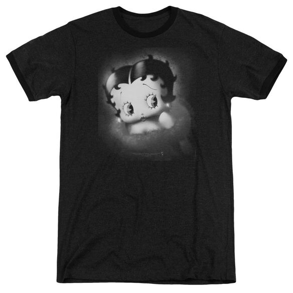 Betty Boop Vintage Star Adult Heather Ringer