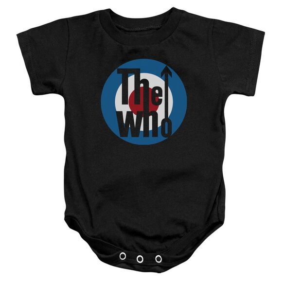 The Who Logo Infant Snapsuit Black