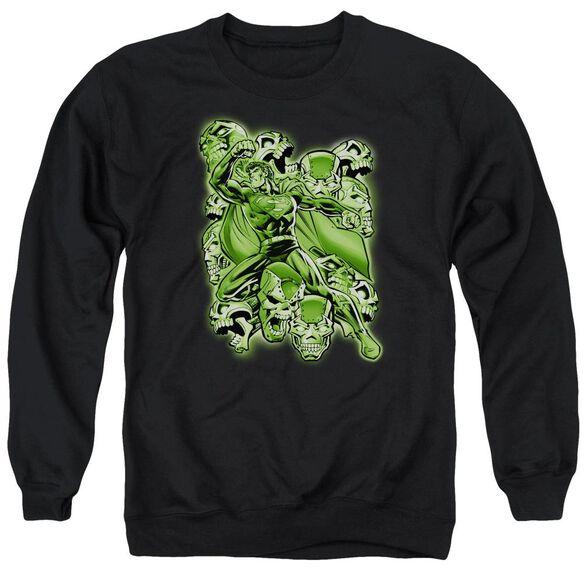 Superman Metallo Mayhem Adult Crewneck Sweatshirt