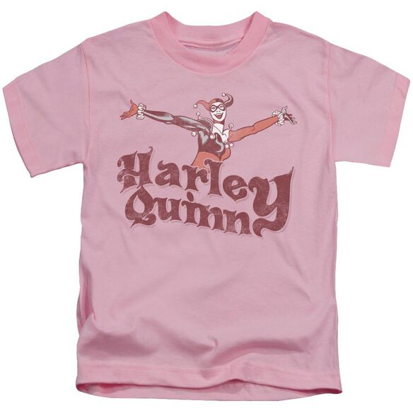 Dc Harley Hop Vintage Short Sleeve Juvenile Pink T-Shirt
