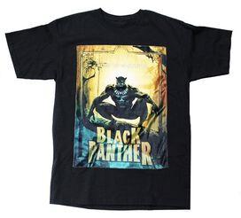 Black Panther Velvet Patch T-Shirt