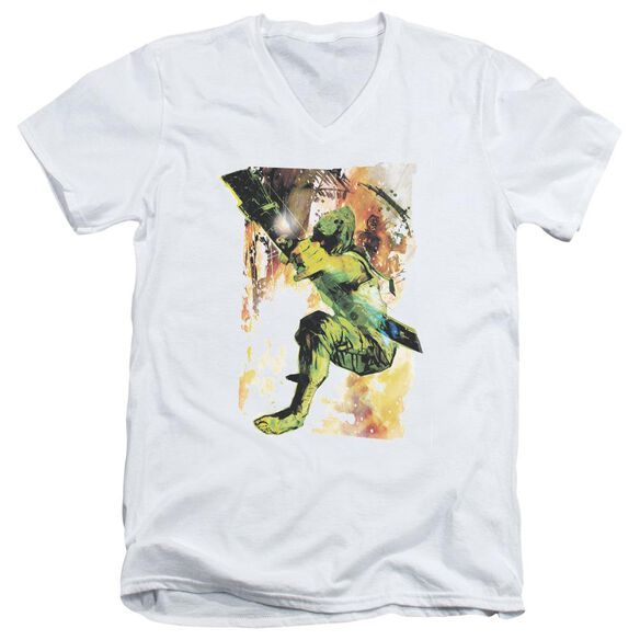 Jla Painted Archer Short Sleeve Adult V Neck T-Shirt