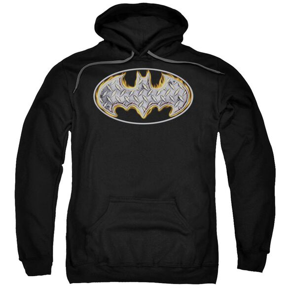 Batman Steel Fire Shield Adult Pull Over Hoodie