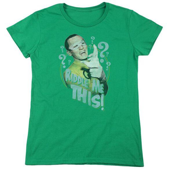 BATMAN CLASSIC TV RIDDLE ME THIS-S/S WOMENS T-Shirt