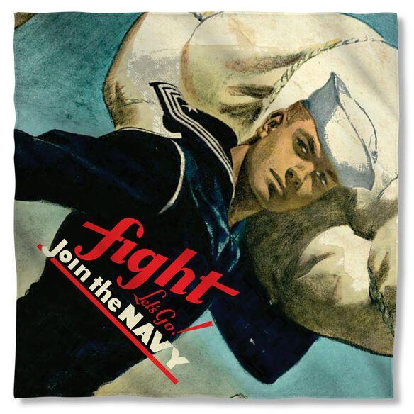 Navy Fight Lets Go Bandana