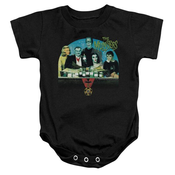 The Munsters 50 Year Potion Infant Snapsuit Black