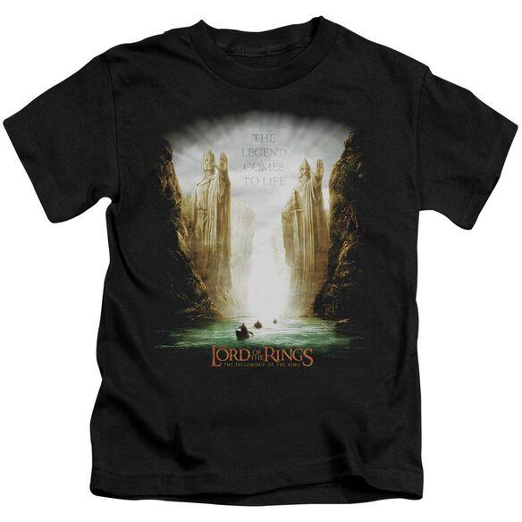Lor Kings Of Old Short Sleeve Juvenile Black Md T-Shirt