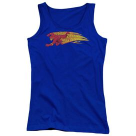 Dc Flash Fastest Man Alive - Juniors Tank Top - Royal Blue