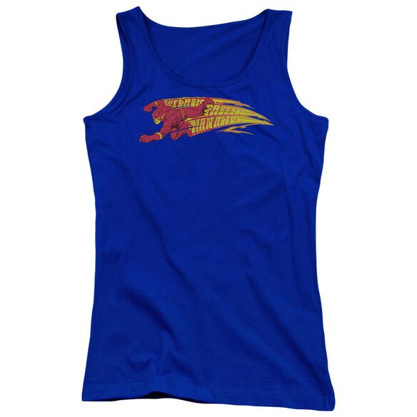Dc Flash Fastest Man Alive Juniors Tank Top Royal