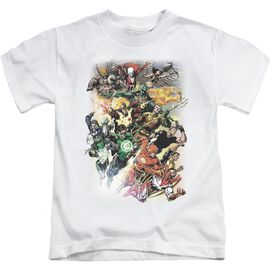 Jla Brightest Day #0 Short Sleeve Juvenile White T-Shirt
