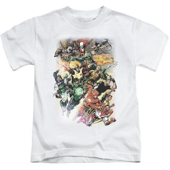 Jla Brightest Day #0 Short Sleeve Juvenile White T-Shirt