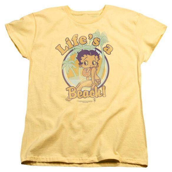Betty Boop Lifes A Beach Short Sleeve Womens Tee T-Shirt