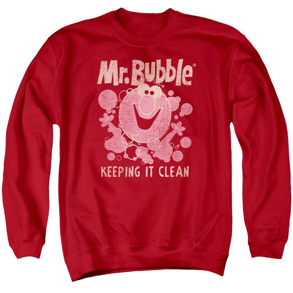 Mr Bubble Keeping It Clean Adult Crewneck Sweatshirt