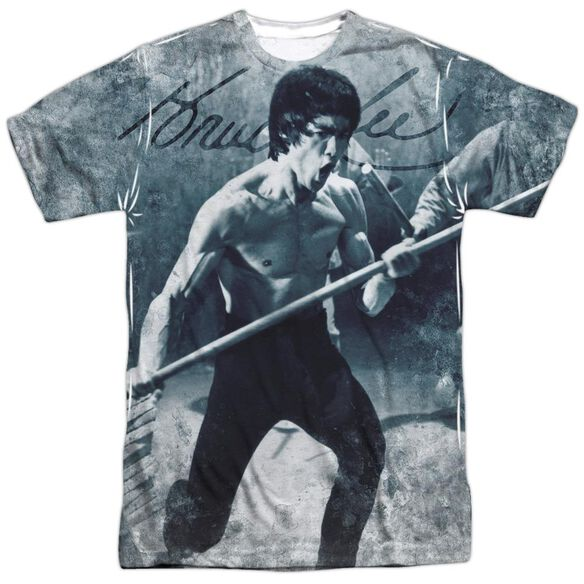 Bruce Lee Whoooaa Short Sleeve Adult 100% Poly Crew T-Shirt
