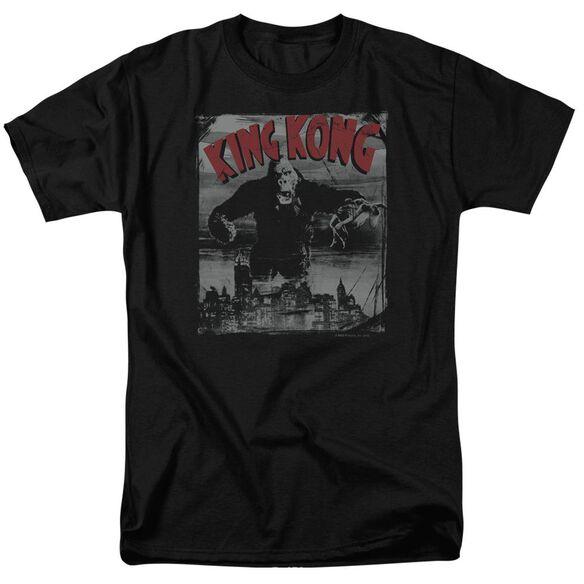 King Kong City Poster Short Sleeve Adult T-Shirt