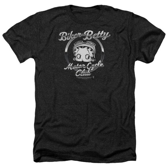 Betty Boop Chromed Logo Adult Heather