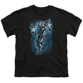 JLA BLACK LIGHTNING BOLTS - S/S YOUTH 18/1 - BLACK T-Shirt