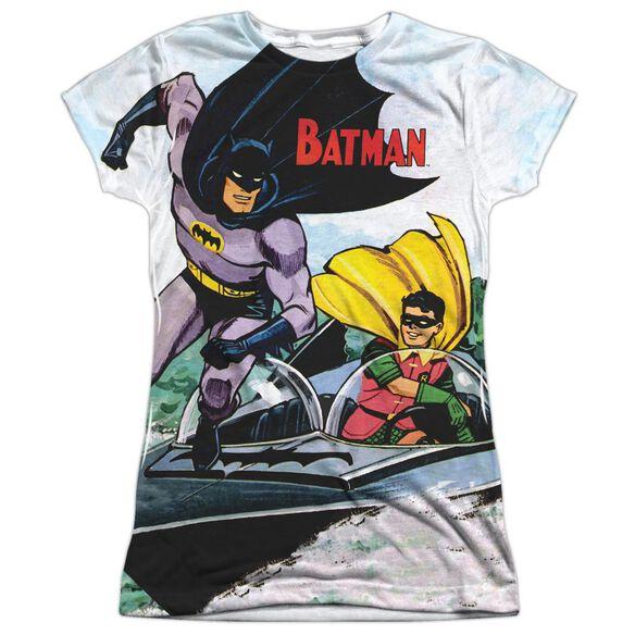 Batman Batboat Short Sleeve Junior Poly Crew T-Shirt