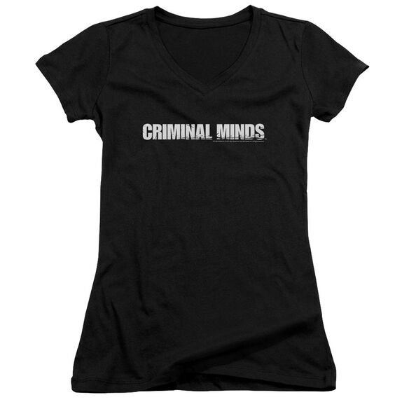 Criminal Minds Logo Junior V Neck T-Shirt