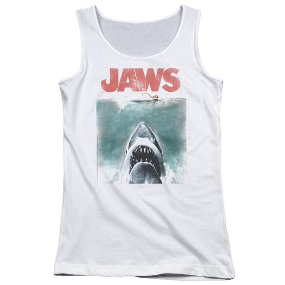 Jaws Vintage Poster Juniors Tank Top