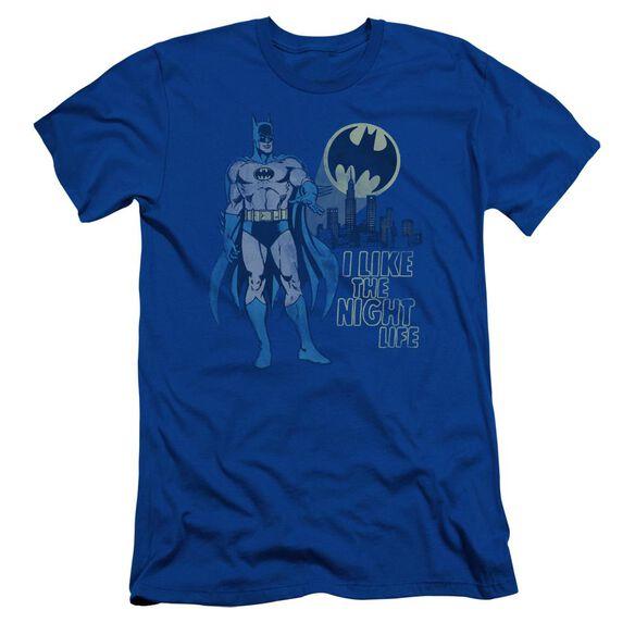 Dc Night Life Short Sleeve Adult Royal T-Shirt