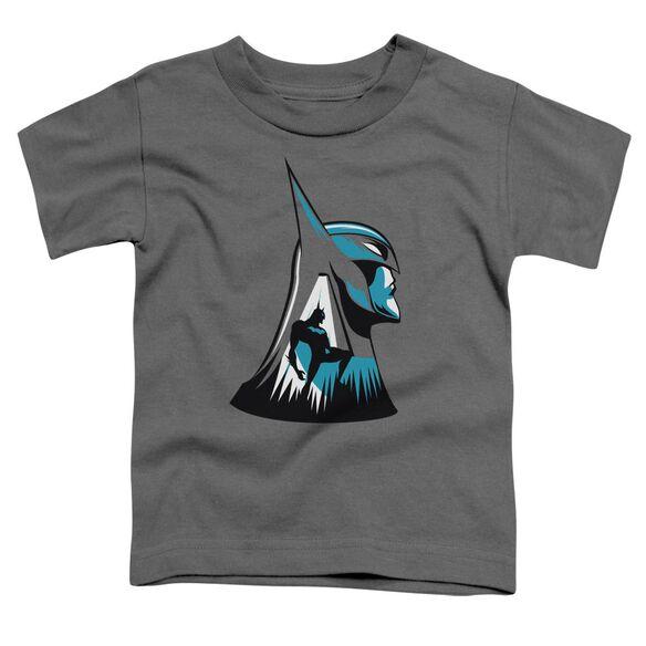 Beware The Batman Head Short Sleeve Toddler Tee Charcoal T-Shirt