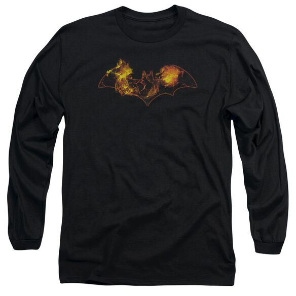 Batman Molten Logo Long Sleeve Adult T-Shirt