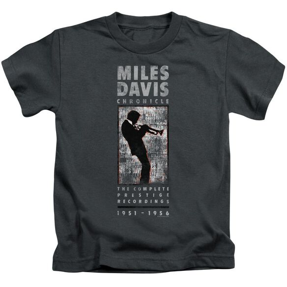 Miles Davis Miles Silhouette Short Sleeve Juvenile Charcoal T-Shirt