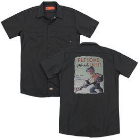 Popeye Hard Work(Back Print) Adult Work Shirt