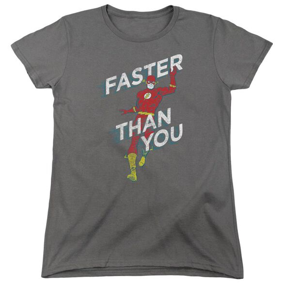 Dc Flash Faster Than You Short Sleeve Womens Tee T-Shirt