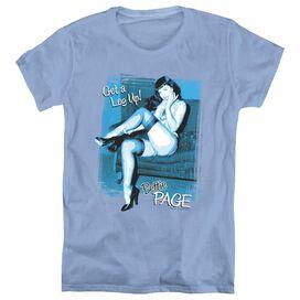 BETTIE PAGE GET A LEG UP - S/S WOMENS TEE - CAROLINA BLUE T-Shirt