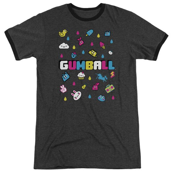 Amazing World Of Gumball Fun Drops Adult Ringer Charcoal