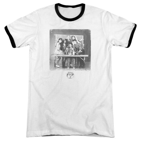 Saved By The Bell Class Photo Adult Ringer White Black