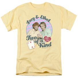 I LOVE LUCY TWO OF A KIND - S/S ADULT 18/1 - BANANA T-Shirt