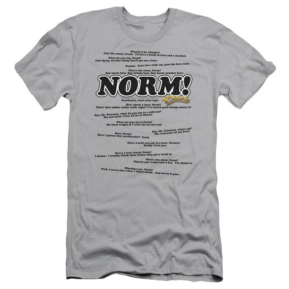 CHEERS NORMISMS - S/S ADULT 30/1 - SILVER T-Shirt