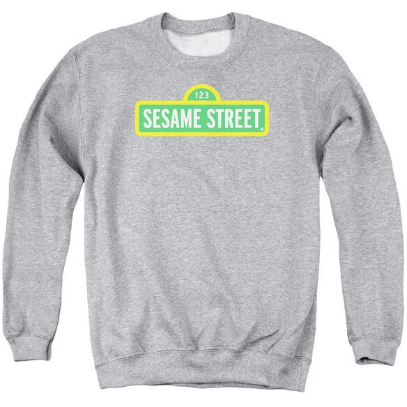 Sesame Street Logo Adult Crewneck Sweatshirt Athletic
