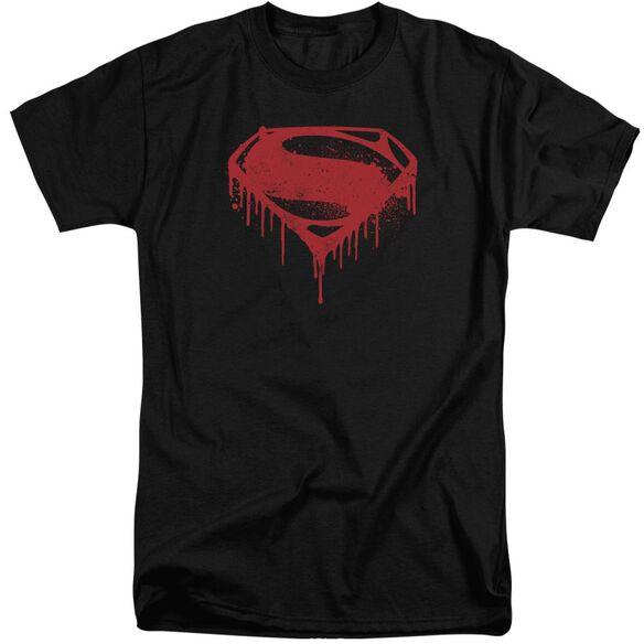 Batman V Superman Splattered Short Sleeve Adult Tall T-Shirt
